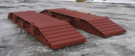 Small Portable Bridges : Lessard welding portable steel pads